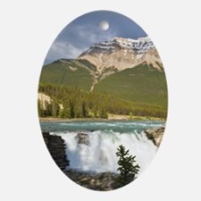 Athabasca River and waterfall in Jas Oval Ornament