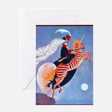 10 OCT Pillow PlankZebra Greeting Card