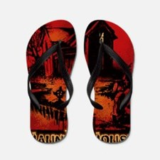 Rebel Yell Haunted Hosue Flip Flops