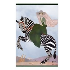 8 AUG Pillow MartyZebra Postcards (Package of 8)