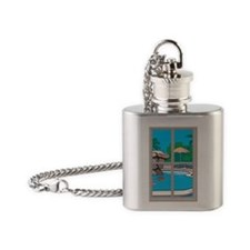poolside Flask Necklace