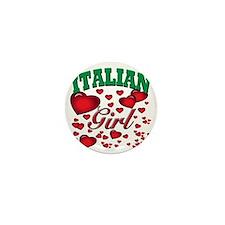 italian girl Mini Button