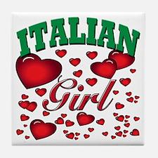italian girl Tile Coaster