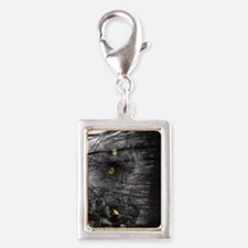 Enchanted forest Silver Portrait Charm