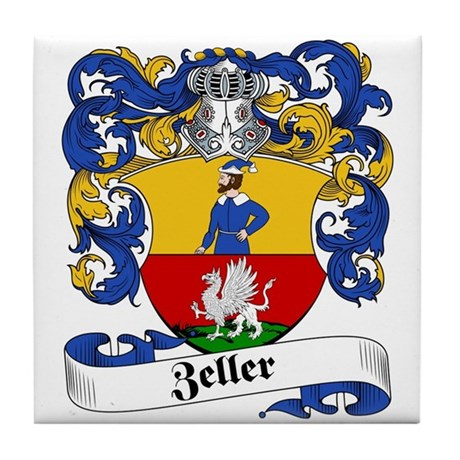 Zeller Coat of Arms Tile Coaster