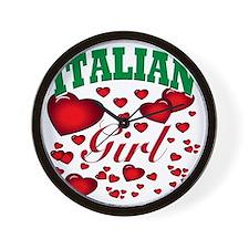 italian girl(blk) Wall Clock