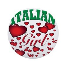 italian girl(blk) Round Ornament
