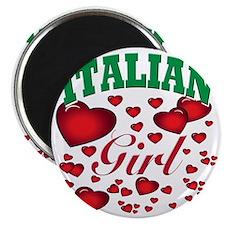 italian girl(blk) Magnet