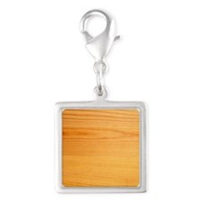 woodsquare Silver Square Charm