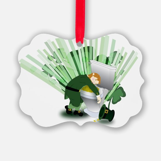 Passed Out Leprechaun Ornament