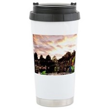 Montreal. Chinese Garden at sun Travel Mug