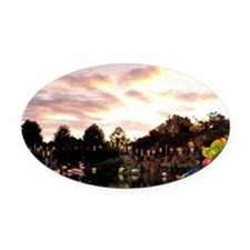 Montreal. Chinese Garden at sunset Oval Car Magnet