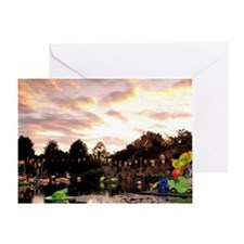Montreal. Chinese Garden at sunsettr Greeting Card