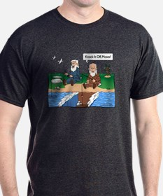 Fishing With Moses Dark Gray T-Shirt