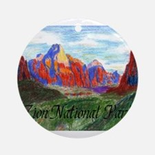 Zion: Down Canyon Ornament (Round)