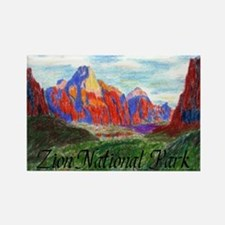 Zion: Down Canyon Rectangle Magnet