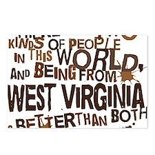 west_virginia_brown Postcards (Package of 8)