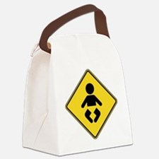warningSignBaby Canvas Lunch Bag