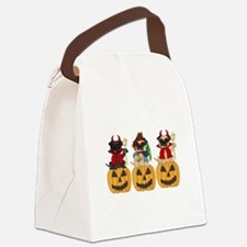 Halloween Trick or Treat Pugs Canvas Lunch Bag