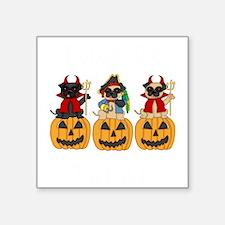 "Halloween Trick or Treat Pu Square Sticker 3"" x 3"""