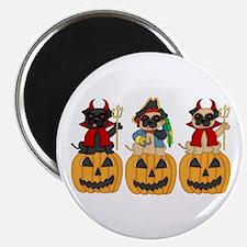 Halloween Trick or Treat Pugs Magnet