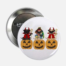 "Halloween Trick or Treat Pugs 2.25"" Button"
