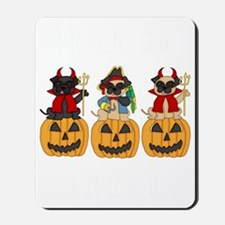 Halloween Trick or Treat Pugs Mousepad