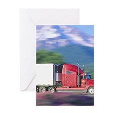 Truck motion. Greeting Card