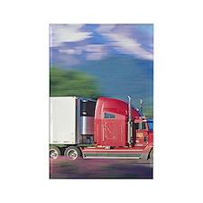 Truck motion. Rectangle Magnet