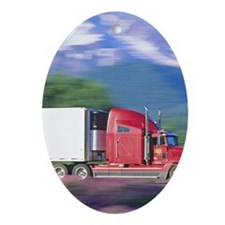 Truck motion. Oval Ornament