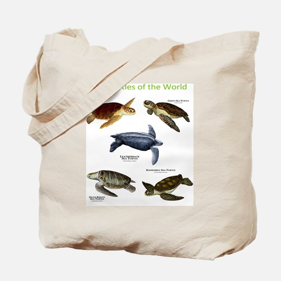 Sea Turtles of the World Tote Bag
