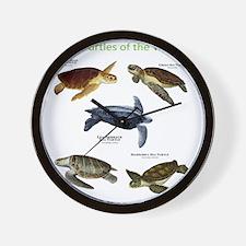 Sea Turtles of the World Wall Clock