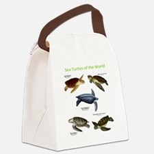 Sea Turtles of the World Canvas Lunch Bag