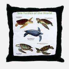 Sea Turtles of the World Throw Pillow