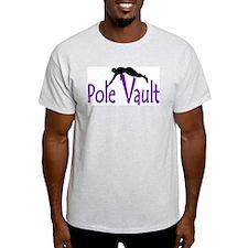 pole vault boy shadow purple T-Shirt