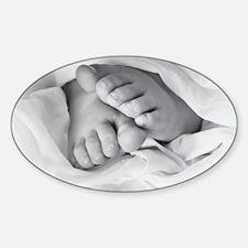Sweet Baby Feet Oval Decal