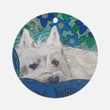 Mouse Westie Round Ornament
