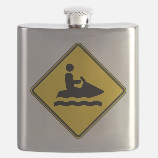 warningSignJetski Flask