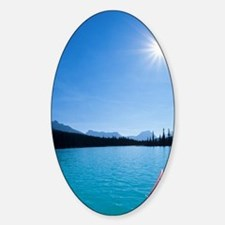 Kayaking on Bow Lake in the Canadia Decal
