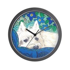 MouseLite Westie Wall Clock