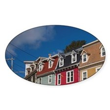 St. John's. Typical colorful St. Jo Decal