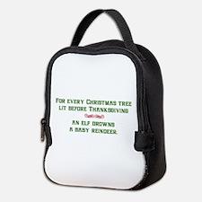 Christmas Tree Lights Neoprene Lunch Bag