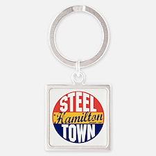 Hamilton Vintage Label B Square Keychain