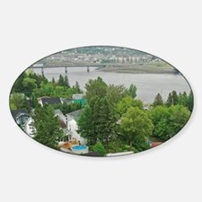 Chicoutimi. View over the Saguenay  Sticker (Oval)