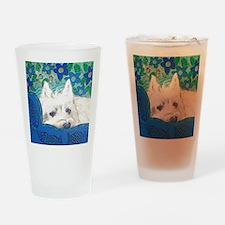 SQlite Westie Drinking Glass