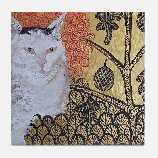 Mouse KlimptCat Tile Coaster