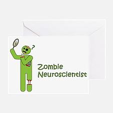 Zombie Neuroscientist Greeting Card