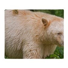 A white variety of the black bears R Throw Blanket