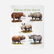 Rhinos of the World Twin Duvet