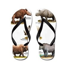 Rhinos of the World Flip Flops